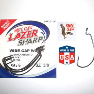 Eagle Claw Wide Gape Worm Weedless Hooks