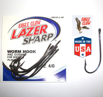 Eagle Claw L095 Southern Sproat Baitholder Worm Hook
