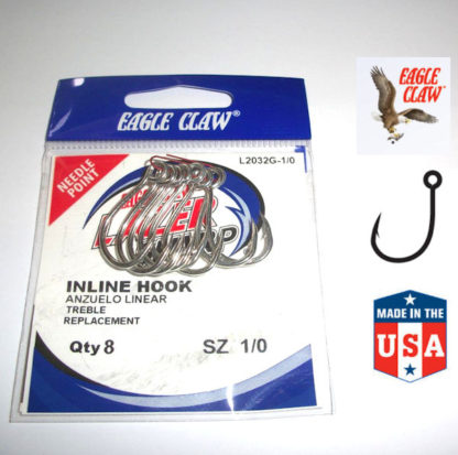 Eagle Claw INLINE Lure Hooks