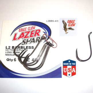 Eagle Claw L2BB OCTOPUS BARBLESS Hooks