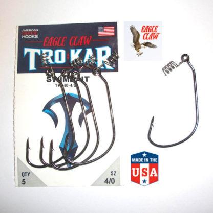 Eagle Claw TK140 TROKAR 30° Softbait Weedless Lure Hooks