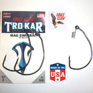 Eagle Claw TROKAR Weedless Hooks - 3/0 to 7/0 - TK160 Magnum Swimbait EWG
