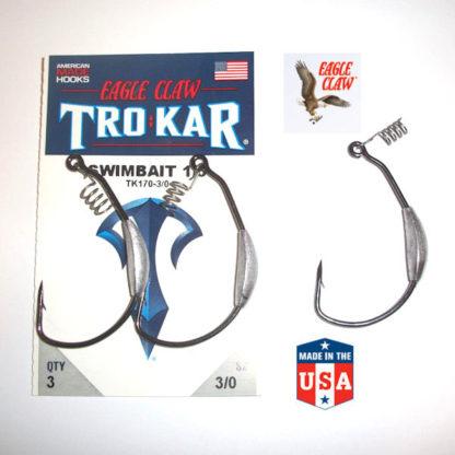 Eagle Claw TROKAR TK170 Magnum Weighted Swimbait EWG