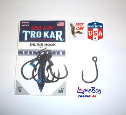 Eagle Claw 'TROKAR' TK21 INLINE single lure hook